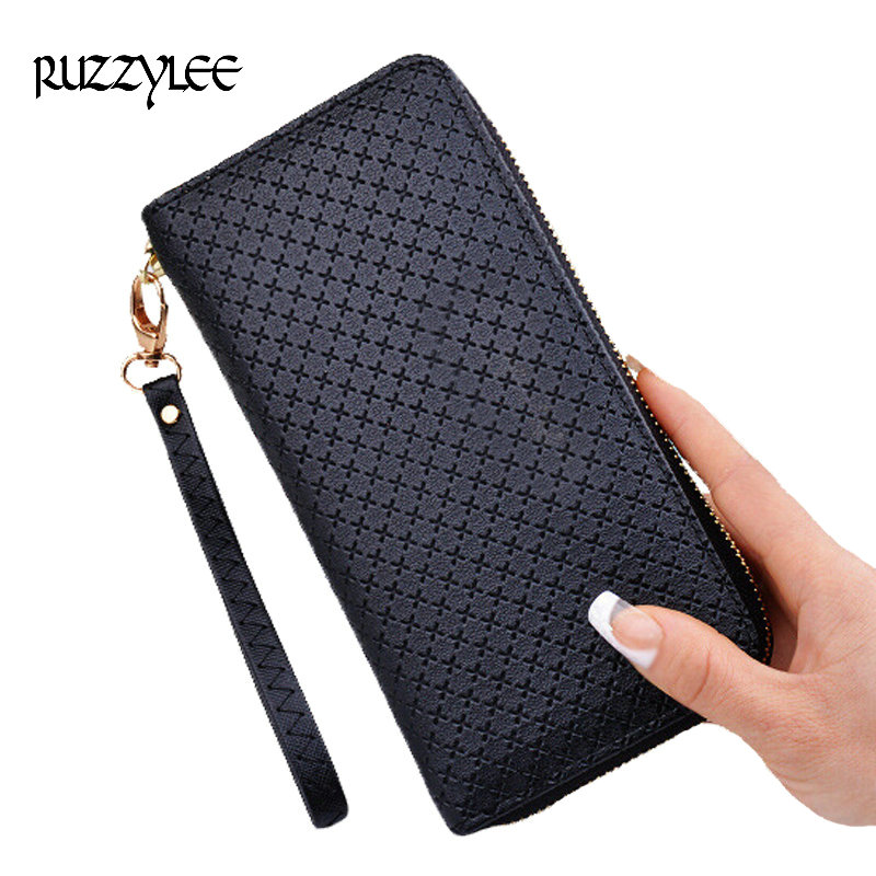 2017 New Ladies Leather Purse Woman Wallet Long Zipper Designer Women Purses Female Wallets Clutch Card Holder Carteras Mujer lykanefu fashion cross designer women wallets long women clutch purses ladies wallet purse female carteira feminina day clutches