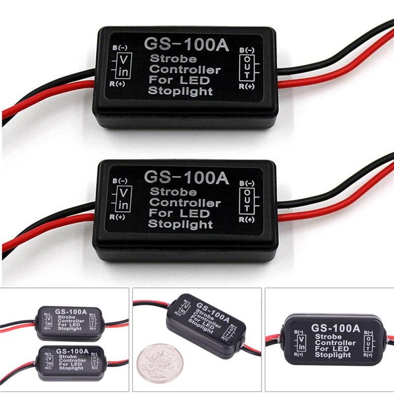 GS-100A LED Brake Stop Light Strobe Flash Module Controller Box For Vehicle