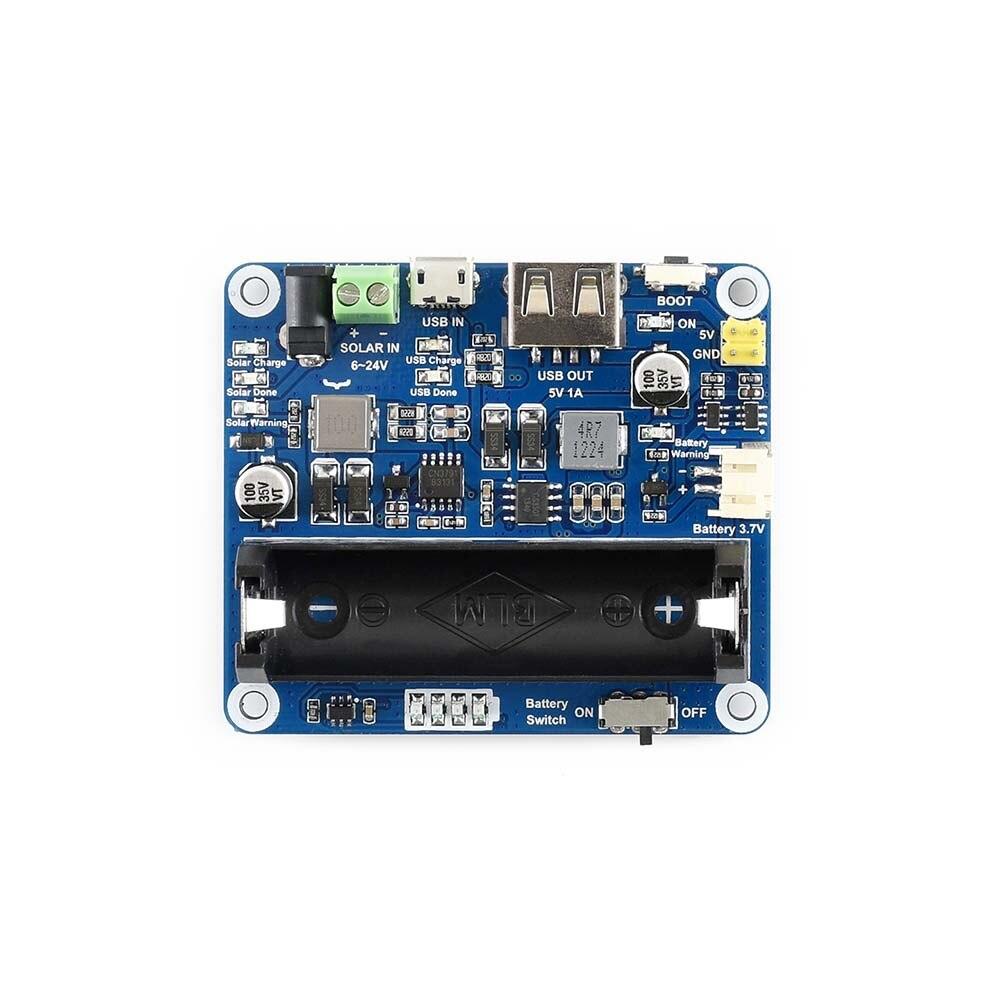 Waveshare Modulo di Gestione di Potenza Solare per 6 V ~ 24 V Pannello Solare Supporta La funzione di MPPT connessione USB di ricarica della batteria