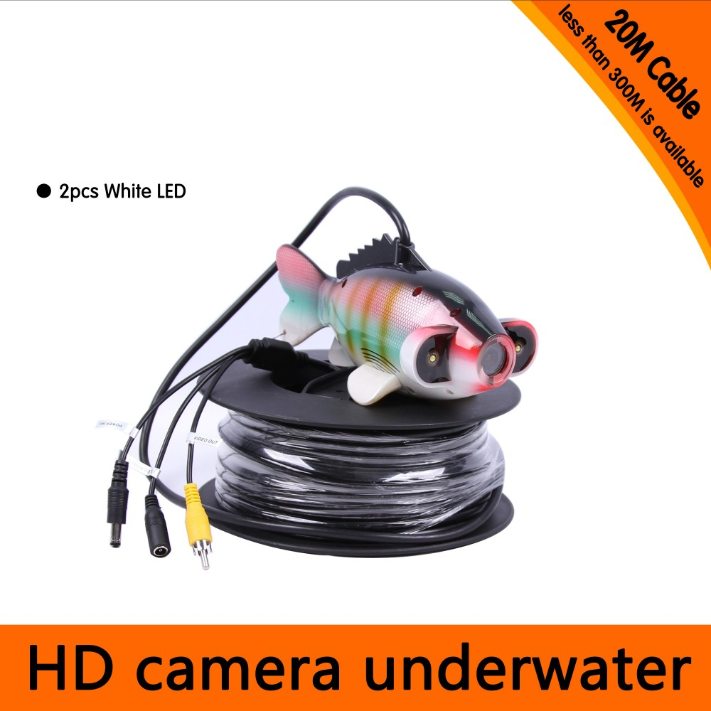 20Meters Depth Fish Like Underwater Camera with 2PCS 2 walt white LEDS for Fish Finder & Diving Camera 20meters depth fish like underwater camera with 2pcs 2 walt white leds for fish finder