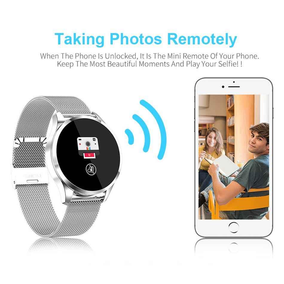 Newwear Q9 Смарт-часы Для мужчин Для женщин модные Бизнес Водонепроницаемый сердечного ритма крови Давление монитор Фитнес браслет «Умные» часы VS Q8