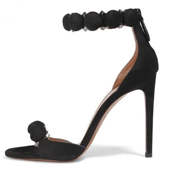 Sexy Open Toe Woman Sandal 2018 Summer Ankle Strap High Heel Sandal Rivets Studded Thin Heels Gladiator Sandal Big Size 10 hot selling black leather sandal high heel summer open toe chains decorations gladiator sandal woman cutouts thin heels shoes