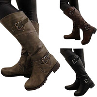 2018 Newest Women Boots Thigh High Boots Brand Wearing Simple Style Sexy Mid Calf Boots High