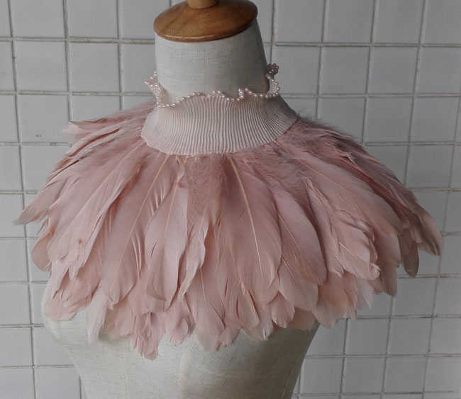 Free shipping amazing goose feather capelet FC15032