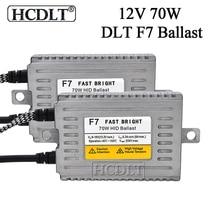 Hcdlt 2 шт переменного тока 12В 70Вт ксенон быстрого розжига DLT F7 тонкий система зажигания с добавочным сопротивлением блок для автомобильных фар комплект для замены ксеноновая hid-лампа накаливания