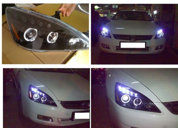 Free shipping vland factory auto car styling 2003 2004 2005 2006 2007 for accord  LED Headlight modified headlamp factory price free shipping vland factory car parts for camry led taillight 2006 2007 2008 2011 plug and play car led taill lights