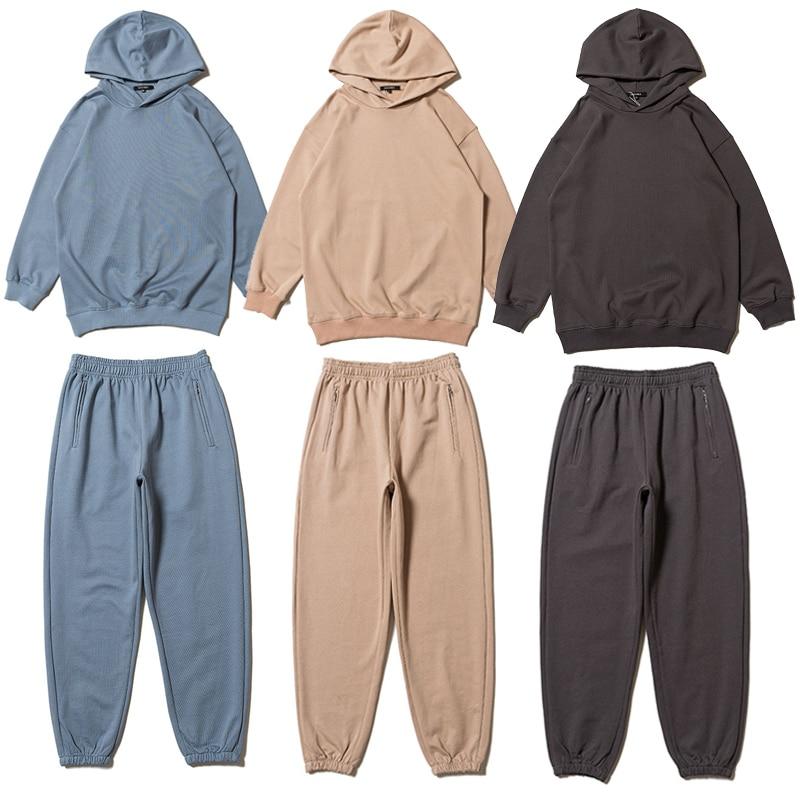 Bright Season 6 Hoodies 2019 Spring New Kanye West Hip Hop Skateboard Season6 Pullover Solid Color Casual Season 6 Sweatshirts Hoodies & Sweatshirts