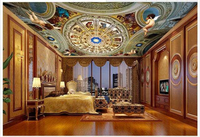 3D Wallpaper Custom 3D Wallpaper Langit langit Mural Royal