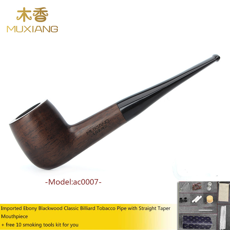 Smoking Pipe Bent Straight Mouthpiece Men Tobacco Pipe Acrylic Mouthpiece Black