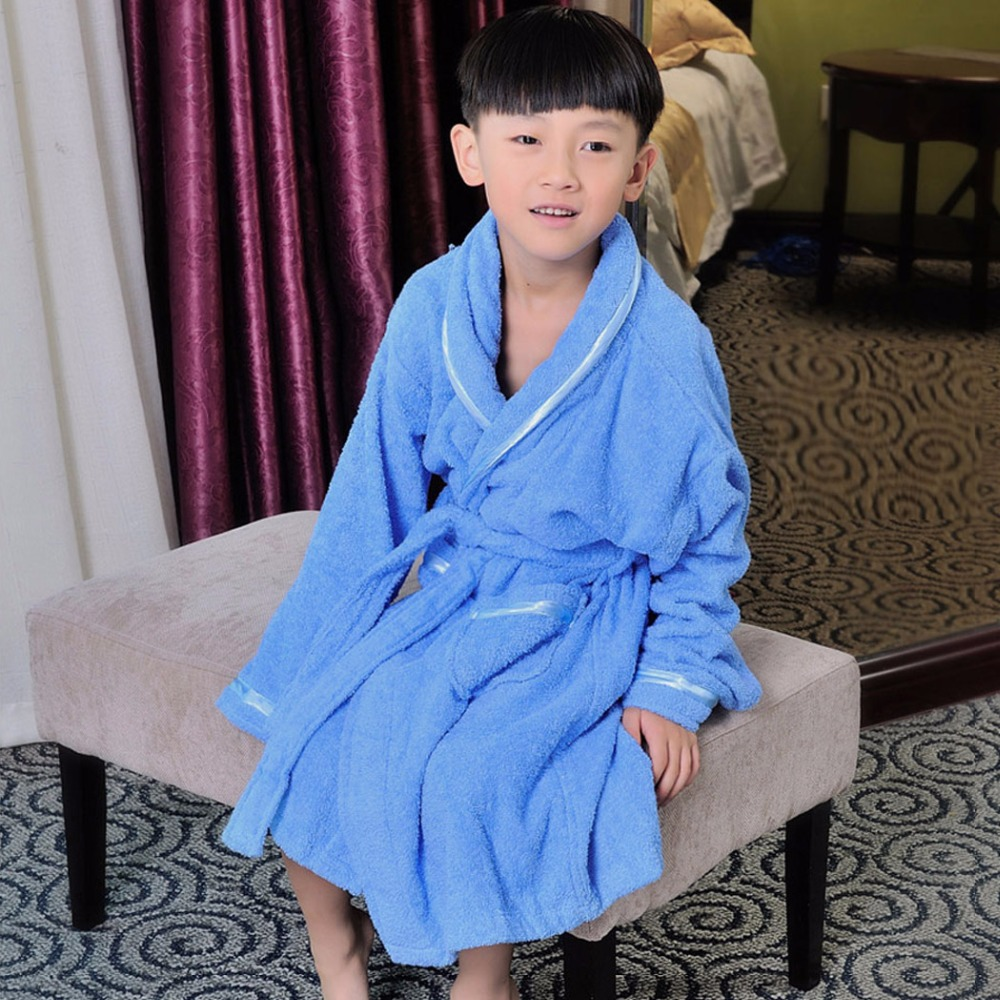 Newest Children Thicken Cotton Bathrobe Boys Girls Warmth Cotton Pajamas Kids Home Clothing Bath Robe Sleep Wear peignoir enfant