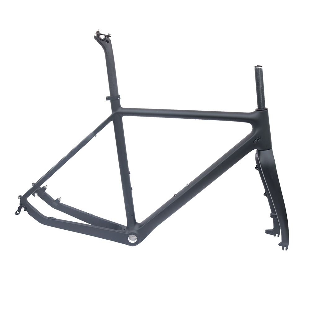Cyclo-Cross carbon bike frame matt bck 51/53/55cm BSA roda disc bicycle frame