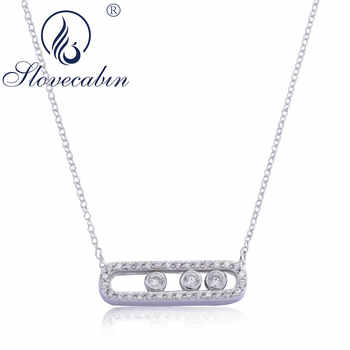 Slovecabin Bijoux Femme Original 925 Sterling Silver Move Long Link Chain Women CZ Necklaces High Quality Jewelry Accessories - Category 🛒 Jewelry & Accessories