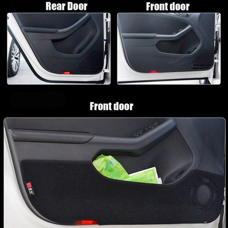 Ipoboo 4pcs Fabric Door Protection Mats Anti-kick Decorative Pads For Volkswagen Sigtar 2012-2014 ipoboo 4pcs fabric door protection mats anti kick decorative pads for hyundai elantra 2012 2015