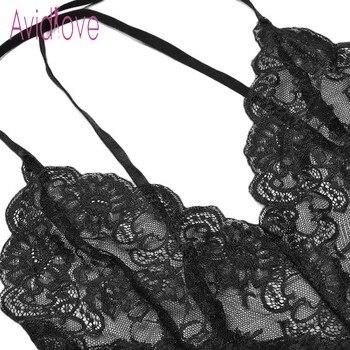 Avidlove New Lady Lingerie Sexy Hot Erotic Teddy Bodysuit Women Lace Spaghetti Strap Chemise Underwear Langeri Porn Sex Costumes 5