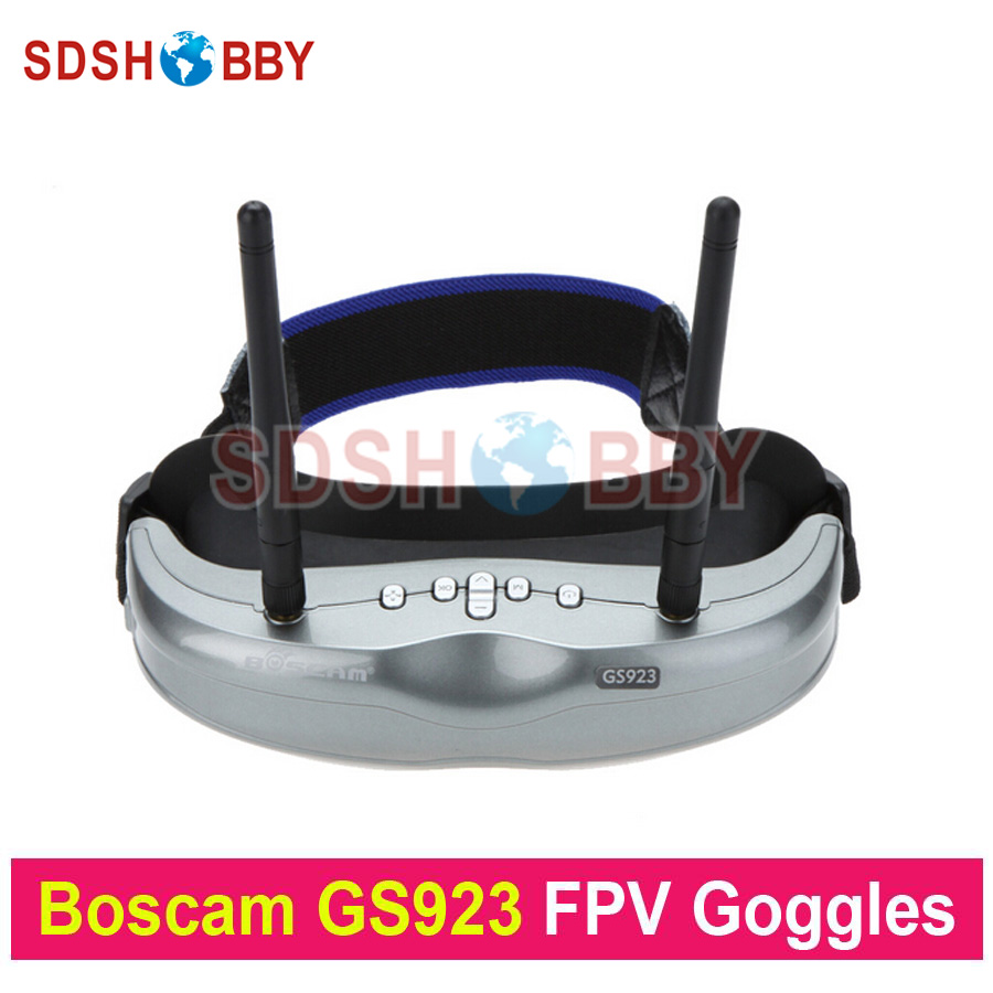 Original Boscam GS923 Wireless Video Glasses FPV Goggles with 5.8G Dual Diversity32CH Receiver for Quadcopter Aerial Photography boscam fpv 5 8ghz 4 in 1 d58 4 audio video diversity receiver
