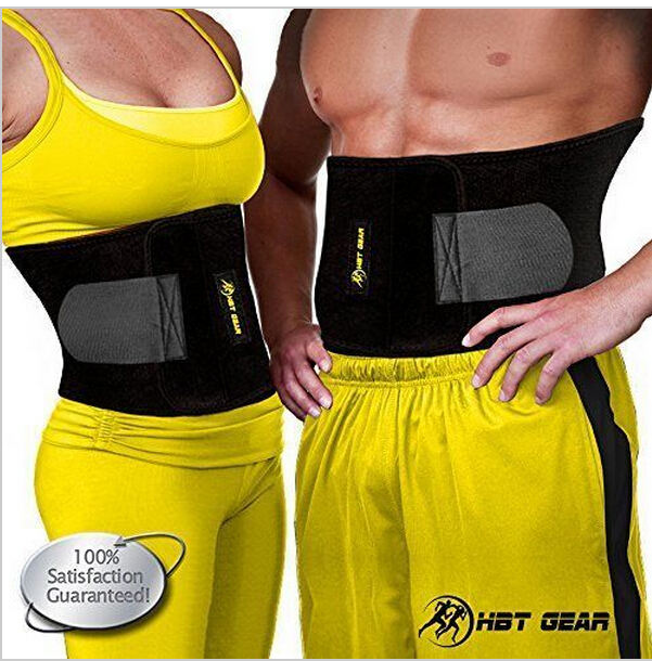 bd26fd30d7 10pcs lot Waist Trimmer by HBT Gear Trim Belt for Targeting Ab Muscles Best  Neoprene Waist Trainer for Wider Coverage-in Waist Cinchers from Underwear  ...