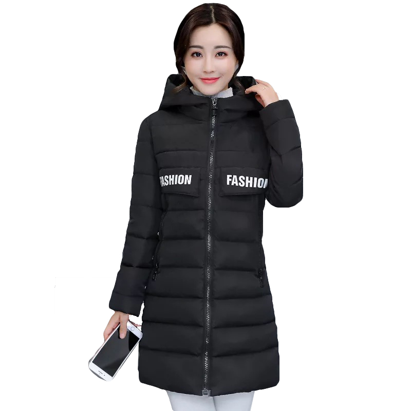 Women Winter Jacket   Parka   Long Slim Hooded Warmth Down   Parka   for Women Jacket Large size Female Casual Outwear Femme Casaco