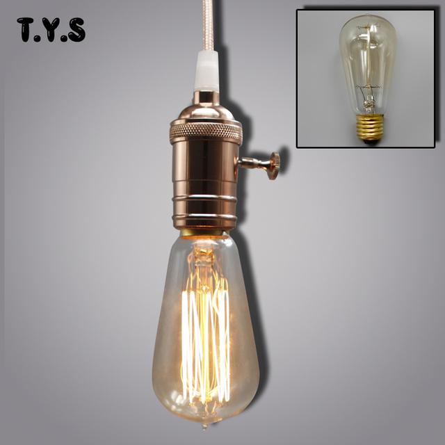 Vintage Edison Retro lámpara ST64 G80 G95 bombilla e27 bombilla incandescente 220 v Luces De vacaciones 40 w lámpara de filamento Lampada para la decoración del hogar