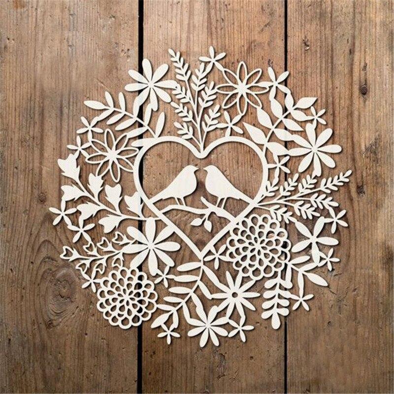 Leaf Heart Flowers with Birds Metal Cutting Dies New 2019 for Craft Dies Scrapbooking Album Embossing Stencil Die Cut Decor