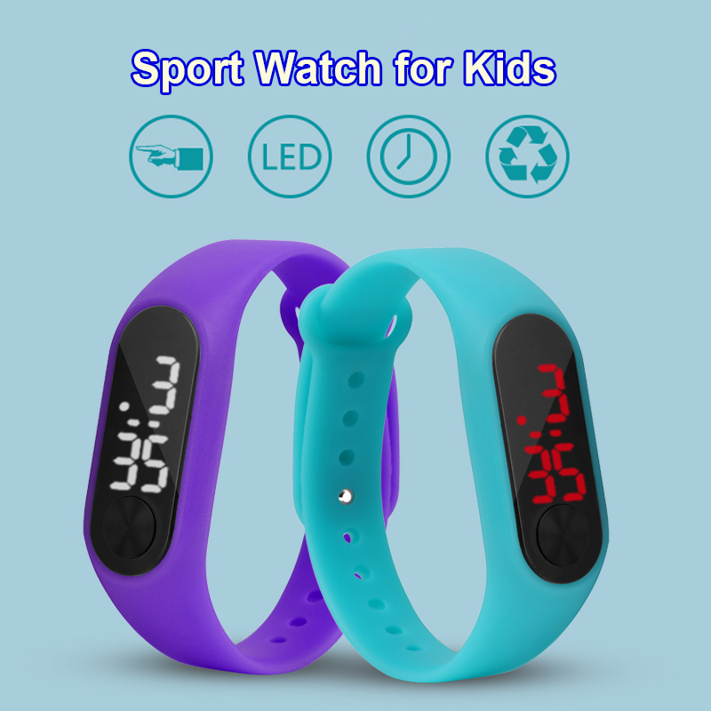 New Kids Watch LED Display Sport Watch Children Electronic Fashion Digital Watches Man Ladies 2018 Gift For School Boy And Girls