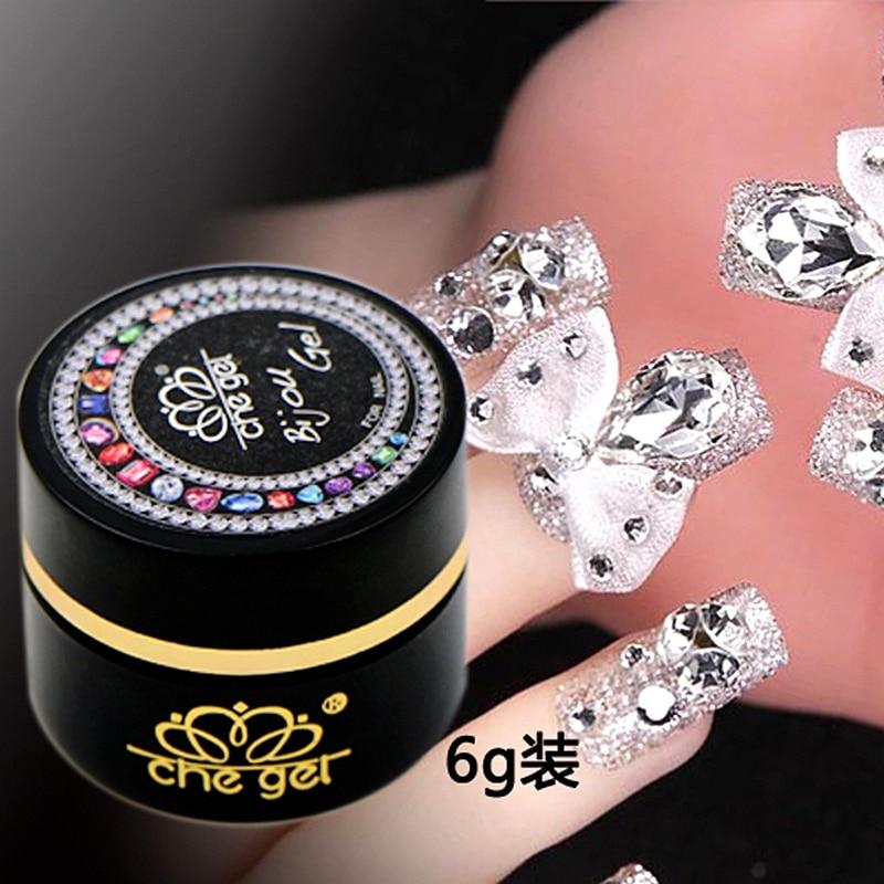 6g che gel nail art rhinestone
