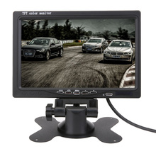 Hot 7 Inch TFT LCD Car Monitor Headrest Display Split For Rear View Camera DVD GPS With Remote Control