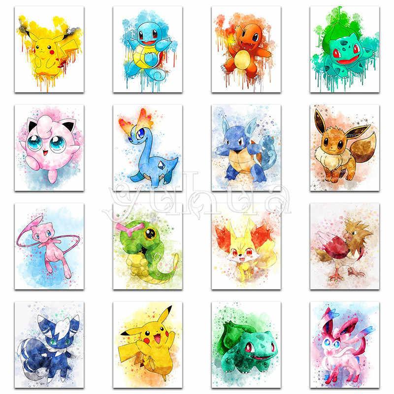 5D Diamond painting Cartoon Pikachu pokemon Full Square Diamond embroidery mosaic Cross stitch Full Round Drill Missing Resend #