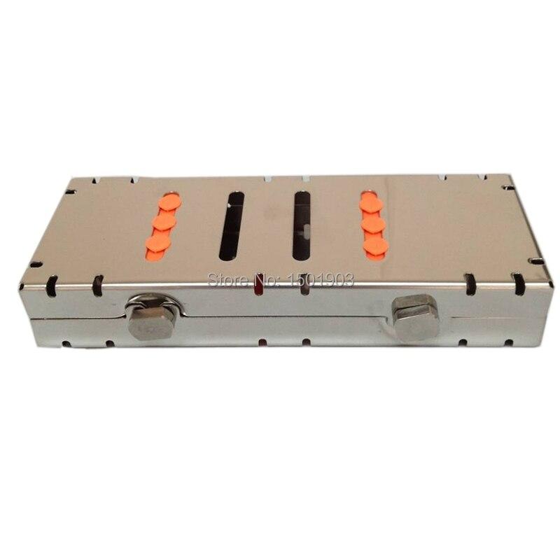 Стоматолошка опрема кутија за зубне инструменте Кутија за дезинфекцију од нерђајућег челика Кутија за дезинфекцију инструмента (5пцс инструменти учитани)