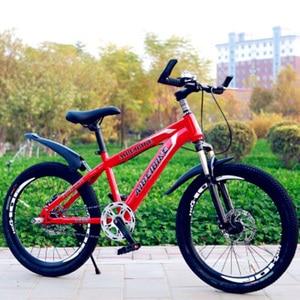 Adult Mountain Bike 22-Inch Single-Speed Two-Disc Brake Shock Absorber Student Mountain Bike