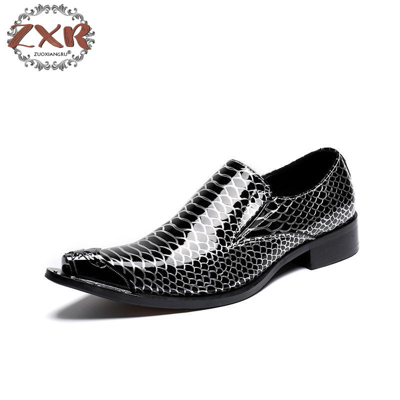 Hot Sell Leather Men Handmade Loafers With Metal Tip Fashion Banquet And Prom Wedding Men Dress Shoes Office Suit Shoe Size tamiya car model luxuriously subaru impreza wrc2001 british rally 24250