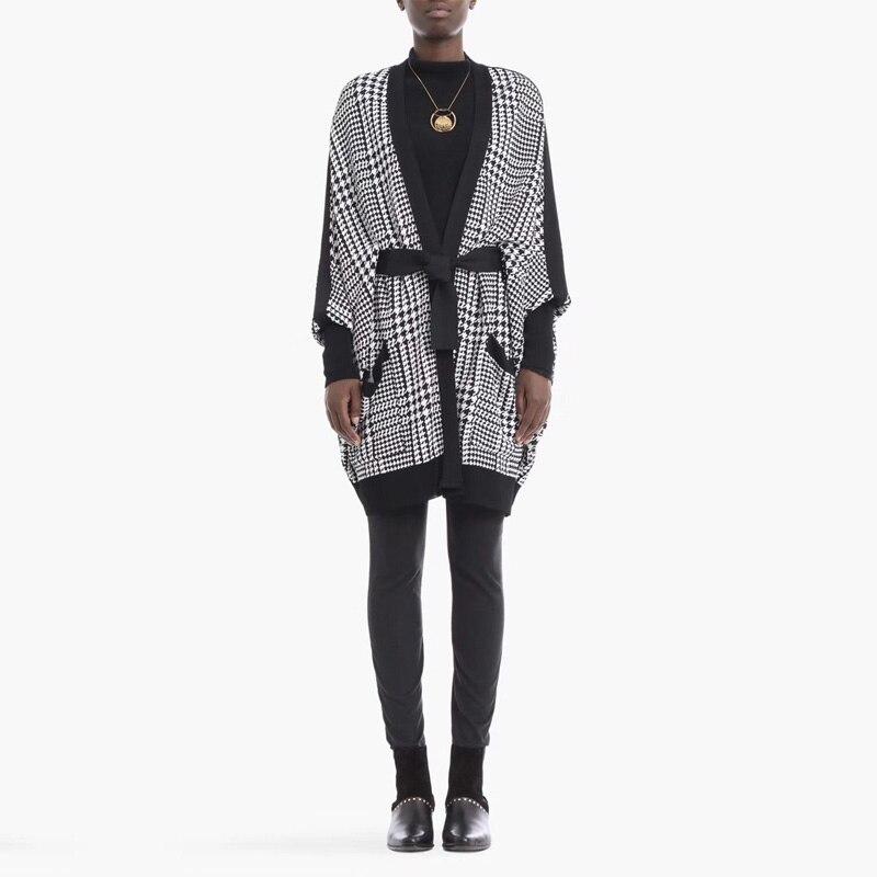 De Soirée Manteau Nouveau Longues Qualité Bandage Haute Manches Ceinture Parti Mode Femmes En 2018 Gros À Robes Été Célébrité Plaid E2IYD9WH