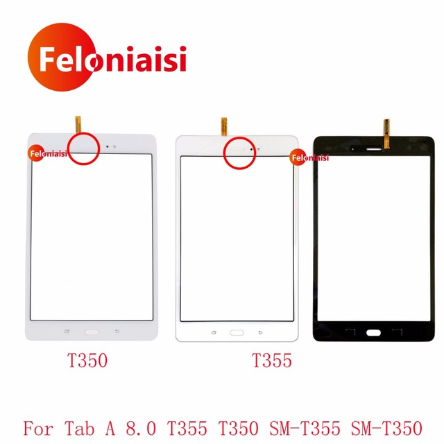 30Pcs/lot DHL For Samsung Galaxy Tab A 8.0 T355 T350 SM-T355 SM-T350 Touch Screen Digitizer Sensor Front Outer Glass Lens Panel