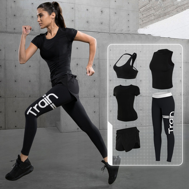 3pcs/set Hot sale Europe and America Gym Fitness Workout Clothing Suit Women Running Tight Jumpsuits Sports Yoga Sets Promotion ayopanda 2017 new yoga pants women leopard printed fitness gym sports legging quick dry workout trousers hot sale running tights
