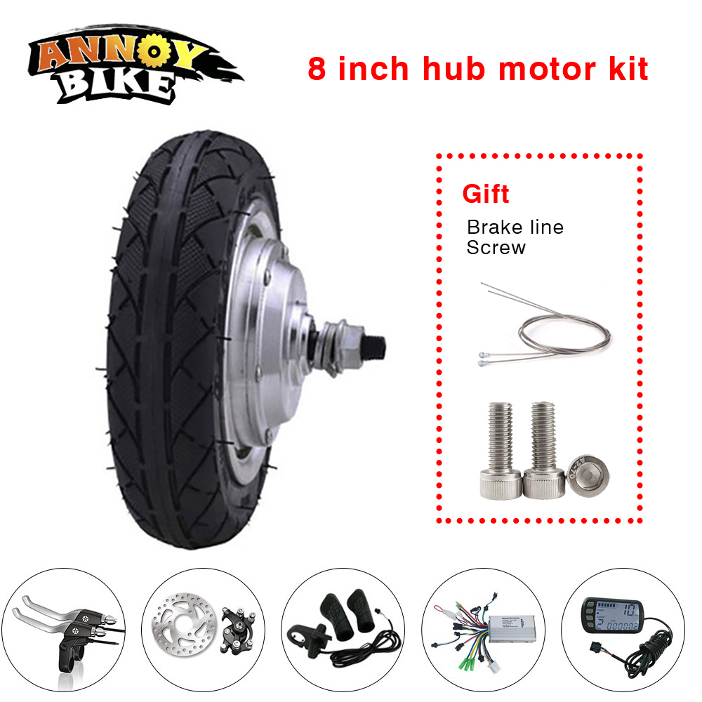 24//36//48V 500W Threaded Brushless Gearless Rear Hub Motor Ebike Electric Bicycle