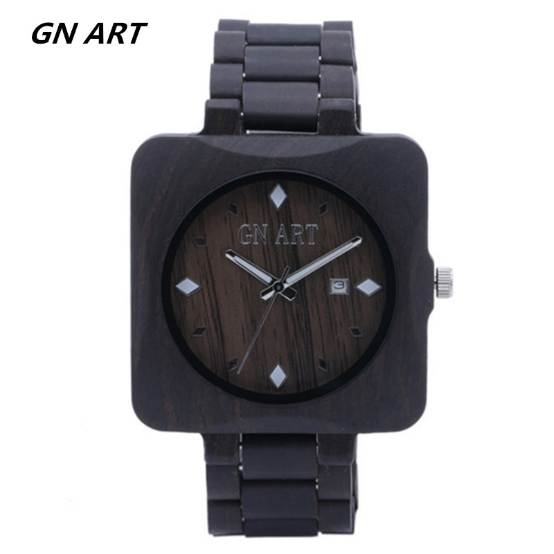 029 Watch Men Wood custom wooden watches engrave Groomsmen Gift Boyfriend Father Wedding Wood Anniversary engravable for
