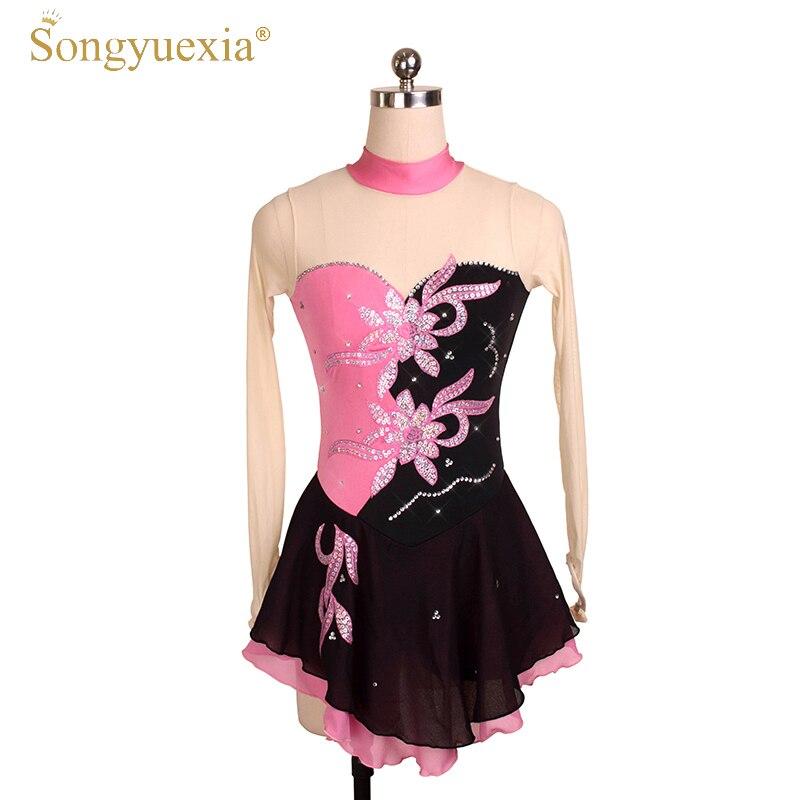 Vestido de patinaje artístico SONGYUEXIA para chicas vestido de tutú de  Ballet profesional de competición de actuación traje de baile para mujeres e535d07d459