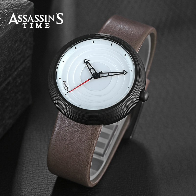 Assassin's Time Brand Luksus Vandtæt Quartz Watch Man Læder Sport - Mænds ure - Foto 2
