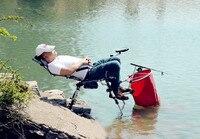 2018 new loading 200kg folding fishing chair portable comfortable lying fishing box light multi purpose beach chairs