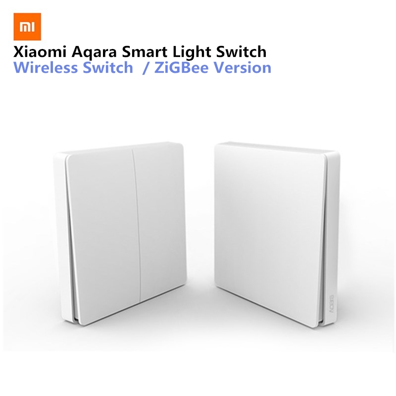 Xiaomi Aqara Smart Light Switch Wireless Version Single Key Singel Button ZiGBee Wifi Wireless Control APP Control For Home xiaomi aqara smart light control fire wire и zero line single key version