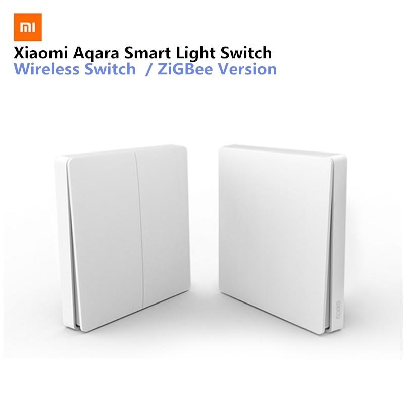 Xiaomi Aqara Smart Licht Schalter Drahtlose Version Einzigen Schlüssel Singel Taste ZiGBee Wifi Drahtlose Steuerung APP Steuer Für Home