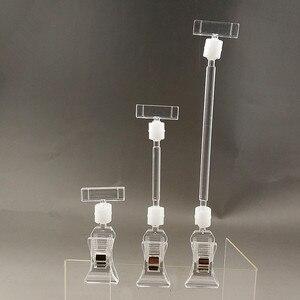 Image 1 - クリアpop商品プラスチック看板看板紙カード表示価格クリップラベルプロモーション小さなホルダー小売店で30個