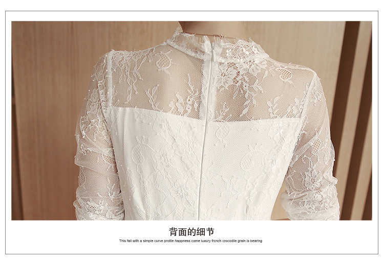 ccdf7c92e574 Autumn Sweet Lace Pregnant Dresses Long Sleeve Clothes Breathable Pure  Colors Maternity Dress Trending Style-in Dresses from Mother   Kids on  Aliexpress.com ...