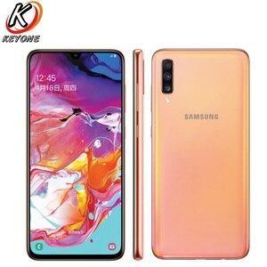 """Image 2 - Tout nouveau téléphone portable Samsung Galaxy A70 A7050 6.7 """"8GB RAM 128GB ROM Snapdragon 675 Octa Core 20:9 écran goutte deau téléphone NFC"""