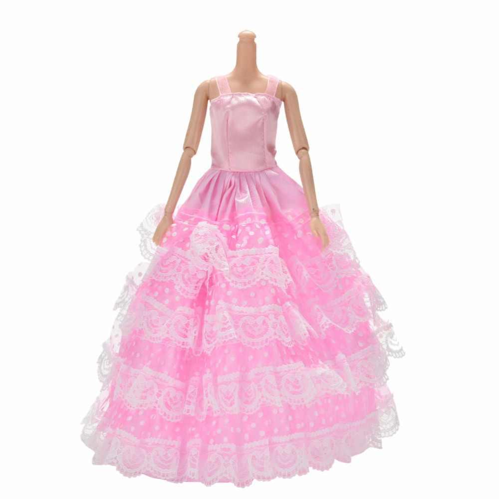 Thời Trang Hồng 4 Lớp Áo Choàng Phối Ren Cho Búp Bê Barbie Công Chúa Bé Gái  Màu Hồng Búp Bê Đồ Chơi 25 Cm/ 9.84 