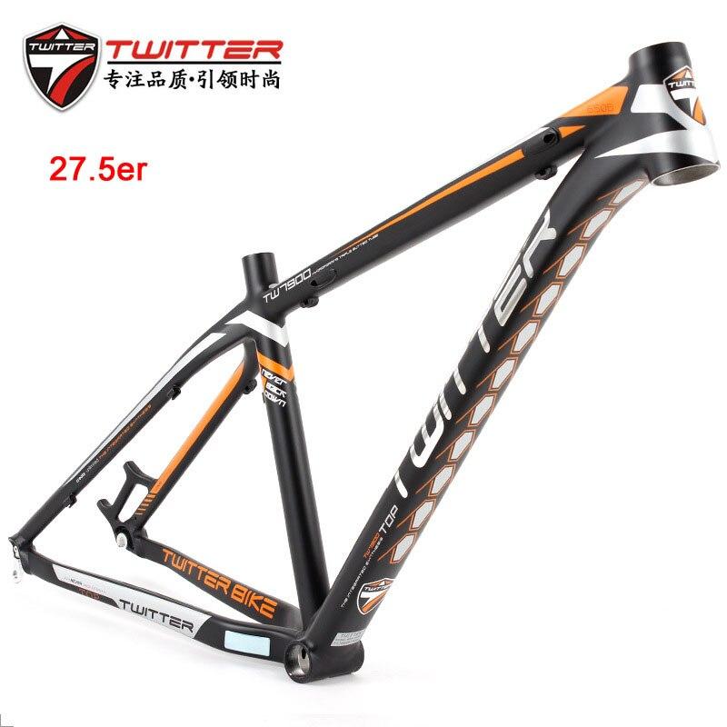 """TWITTER 26//27.5er Aluminum MTB Frame 15.5//17/"""" Lightweight Mountain Bike Frameset"""
