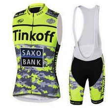 Tinkoff New 2019 Cycling Jersey Summer Team Vest Sleeveless Cycling Set Bike Clothing Ropa Ciclismo Cycling Clothing Sports Suit