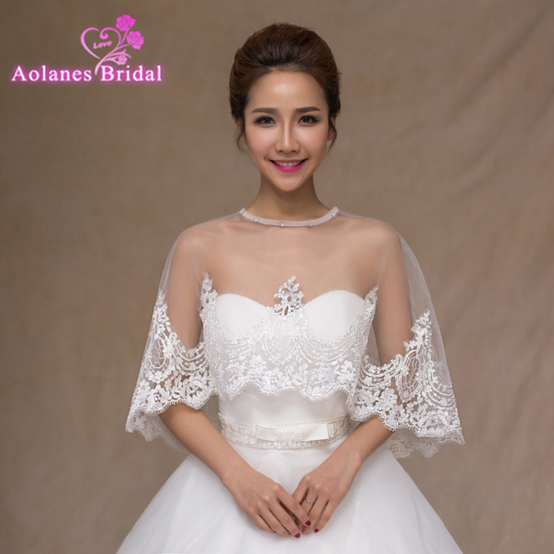 high quality white 2017 tulle with appliques silver lace tank bridal wedding bolero jacket wedding lace