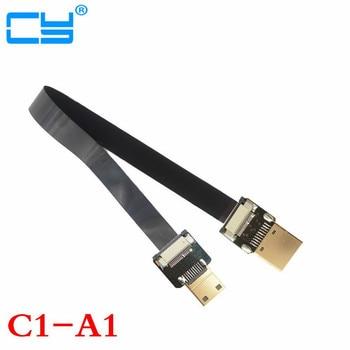 90 Gradi Ad Angolo FPV HDMI Maschio a Mini HDMI Maschio FPC Cavo piatto 10 cm 20 cm 30 cm 50 cm 100 cm per Multicopter Fotografia Aerea