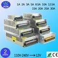 New 1A 2A 3A 5A 8A 10A 15A 20A 30A interruptor fonte de Alimentação Adaptador Transformador de iluminação 100-240 V para DC12V Para LED Strip luz