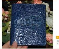 100% genuine crocodile skin leather bi fold wallet alligator skin wallets and purses